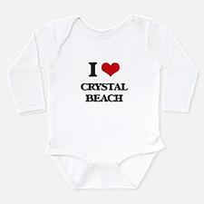 I Love Crystal Beach Body Suit