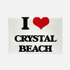 I Love Crystal Beach Magnets