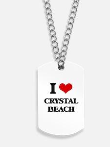I Love Crystal Beach Dog Tags