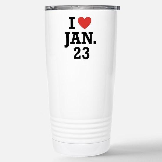 I Heart January 23 Mugs