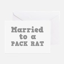 Married to a Pack Rat Greeting Cards (Pk of 10