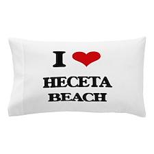 I Love Heceta Beach Pillow Case