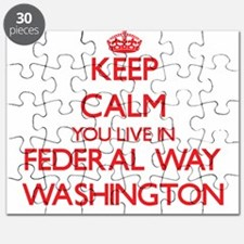 Keep calm you live in Federal Way Washingto Puzzle