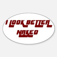 NAKED Oval Decal