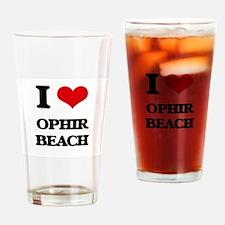I Love Ophir Beach Drinking Glass