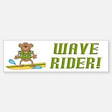 Surfer Monkey Bumper Bumper Bumper Sticker