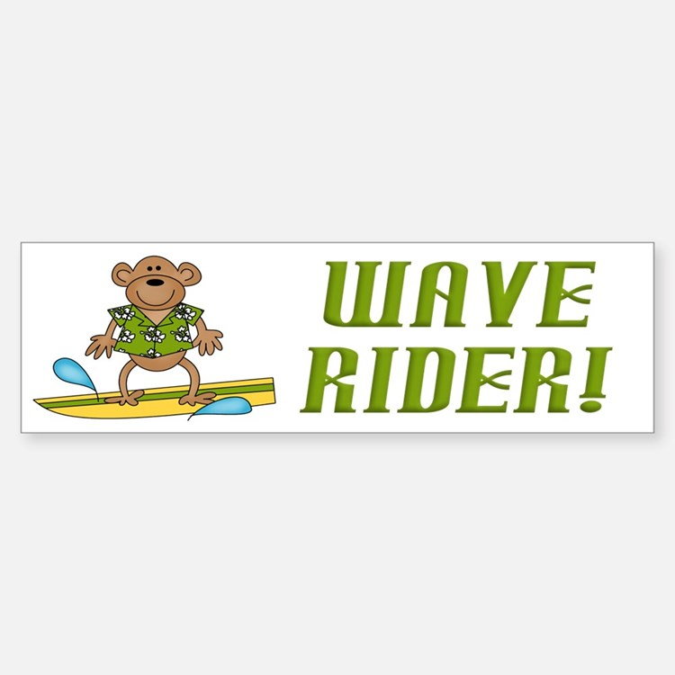 Surfer Monkey Bumper Bumper Bumper Sticker