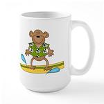 Surfer Monkey Large Mug