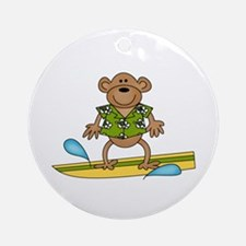 Surfer Monkey Ornament (Round)