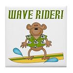 Surfer Monkey Tile Coaster