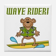 Surfer Monkey Tile Coaster