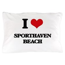 I Love Sporthaven Beach Pillow Case