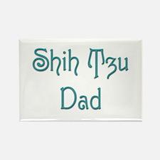 Shih Tzu Dad 10 Rectangle Magnet