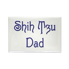 Shih Tzu Dad 11 Rectangle Magnet