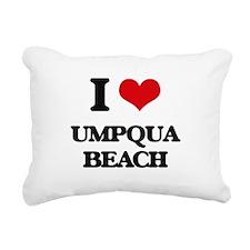 I Love Umpqua Beach Rectangular Canvas Pillow