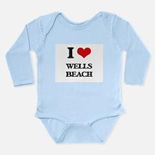 I Love Wells Beach Body Suit