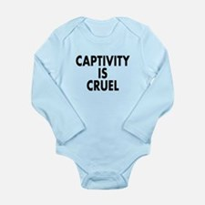 Captivity is cruel - Long Sleeve Infant Bodysuit