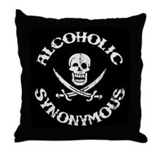 Alcoholic Synonymous Throw Pillow