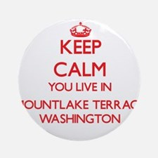 Keep calm you live in Mountlake T Ornament (Round)