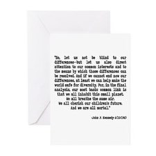"""JFK Quote """"Let us not be blin Greeting Cards (Pack"""
