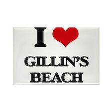 I Love Gillin'S Beach Magnets