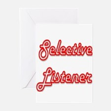Selective Listener Greeting Cards (Pk of 10)