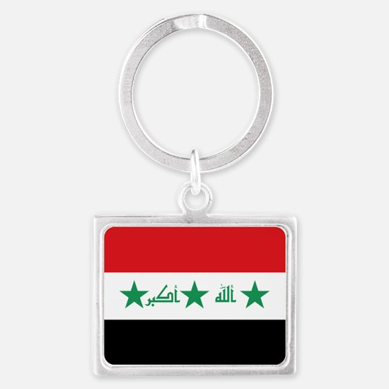Flag of Iraq Landscape Keychain