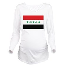 Flag of Iraq Long Sleeve Maternity T-Shirt