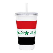 Flag of Iraq Acrylic Double-wall Tumbler