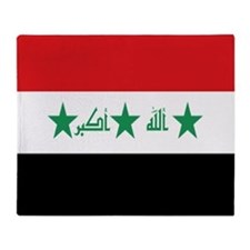 Flag Of Iraq Throw Blanket