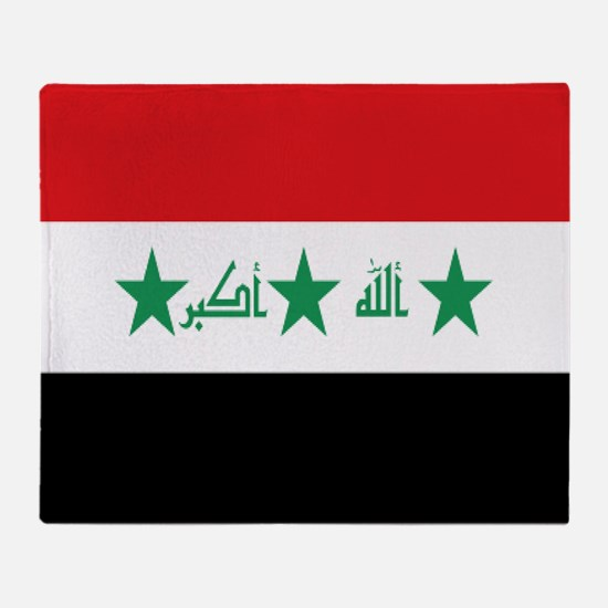 Flag Of Iraq Throw Blanket