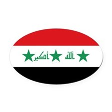 Flag of Iraq Oval Car Magnet