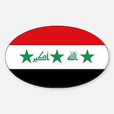 Flag of Iraq Sticker (Oval)