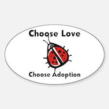 Choose Adoption Oval Decal