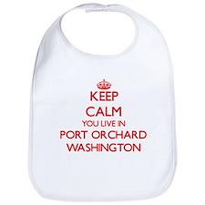 Keep calm you live in Port Orchard Washington Bib