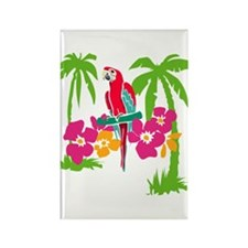 Resden Pretty Parrot Rectangle Magnet (10 pack)