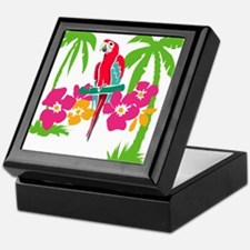 Resden Pretty Parrot Keepsake Box