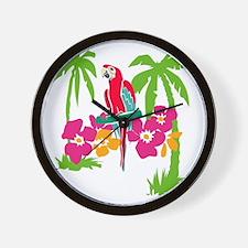Resden Pretty Parrot Wall Clock