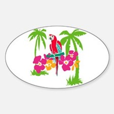 Resden Pretty Parrot Oval Decal