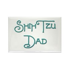 Shih Tzu Dad 19 Rectangle Magnet