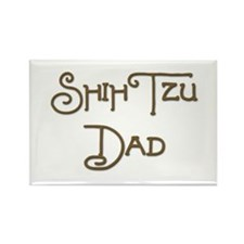 Shih Tzu Dad 21 Rectangle Magnet