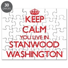 Keep calm you live in Stanwood Washington Puzzle