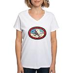 Iraq 100 Hour Fun Run Women's V-Neck T-Shirt