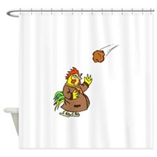 Chicken And Meteor Shower Curtain