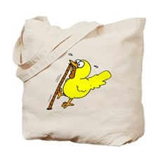 Chick With Worm Tote Bag