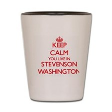 Keep calm you live in Stevenson Washing Shot Glass
