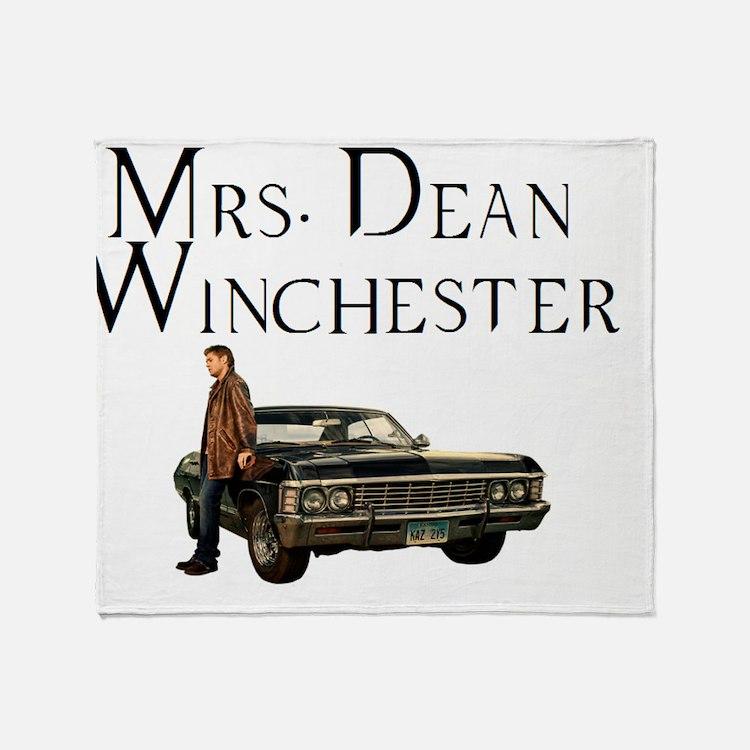 Mrs. Dean Winchester Throw Blanket