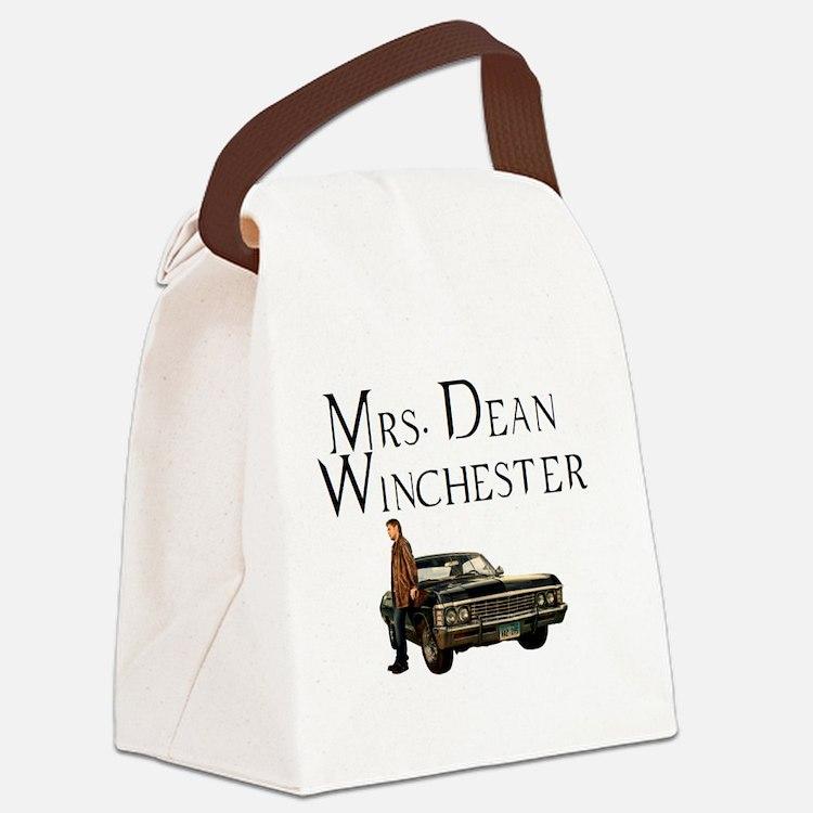 Mrs. Dean Winchester Canvas Lunch Bag