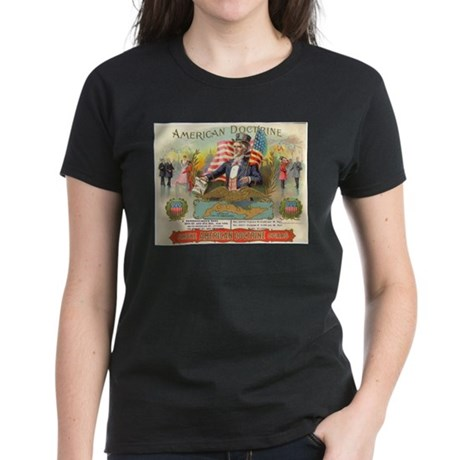American Doctrine Cigar Art Women's Dark T-Shirt