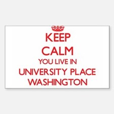 Keep calm you live in University Place Was Decal